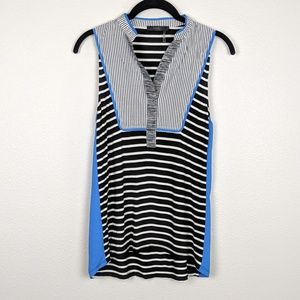 THML Striped Tanks with Contrast Top Panel